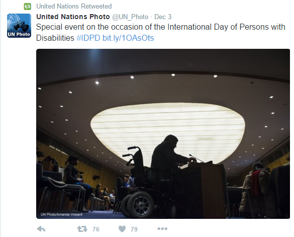 Tweet from United Nations Photo